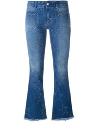 Stella McCartney 70s Flare Star Detail Jeans