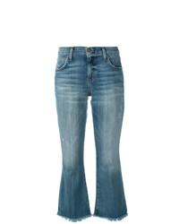 Current/Elliott Cropped Flip Flop Jeans