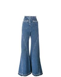 Esteban Cortazar High Waisted Flared Jeans
