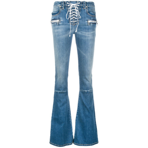 Unravel Project Lace Up Flared Jeans