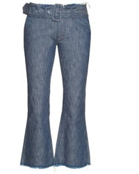 MARQUES ALMEIDA Marquesalmeida Frayed Edge Flared Cropped Jeans