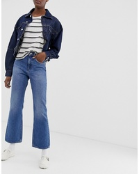 Weekday Mile Bootcut Jeans In Mid Blue
