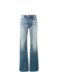 Saint Laurent Raw Cut Flared Jeans