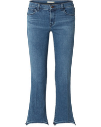 J Brand Selena Cropped Mid Rise Bootcut Jeans