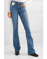 TRE by Natalie Ratabesi The Fiona Paneled Mid Rise Flared Jeans