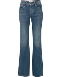 Current/Elliott The Jarvis Distressed High Rise Flared Jeans
