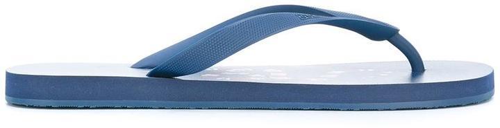 876f8fb57 Kingsnake Print Flip Flops. Blue Flip Flops by Gucci