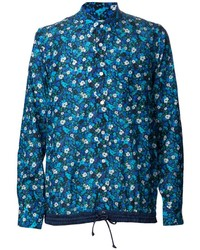 Blue Floral Long Sleeve Shirt