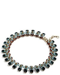 J.Crew Stacked Floral Crystal Necklace