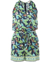 Tory Burch Floral Print Sleeveless Playsuit
