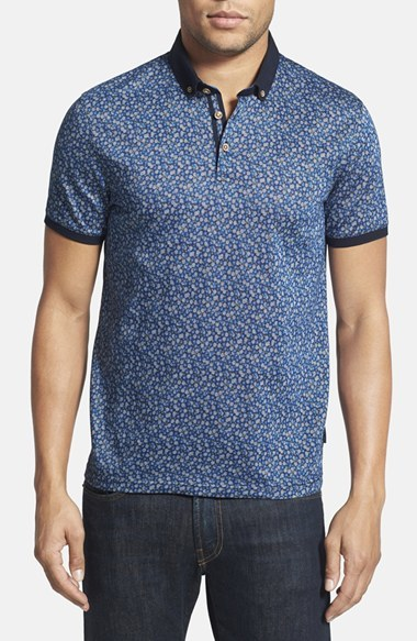 b1b9c74c6 Ted Baker London Flowbo Slim Fit Floral Print Polo