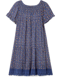Tory Burch Wild Pansy Med Poplin Mini Dress