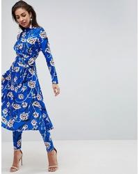 ASOS DESIGN Asos Skinny Trouser In Bright Floral Print