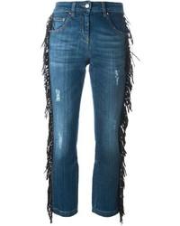 Blue Fringe Jeans
