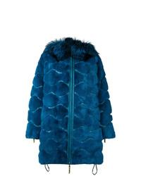 Liska Wavy Paneled Parka Coat