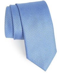 Canali Micro Grid Silk Tie