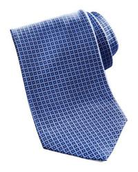 Brioni Geometric Square Silk Tie Navy