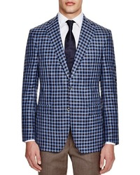 Blue Gingham Blazer