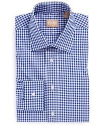 Gitman regular fit cotton gingham english spread collar dress shirt medium 36985
