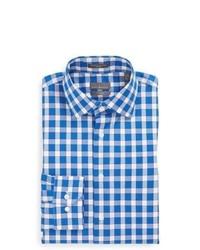 Calibrate Trim Fit Non Iron Gingham Dress Shirt