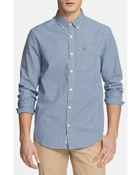 Gingham shirt estate blue large medium 401466