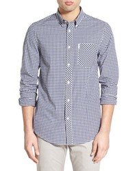 Mod fit gingham sport shirt medium 401465
