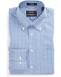 Shop trim fit non iron gingham dress shirt medium 401464