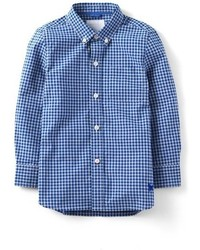 Toddler Boys Mini Boden Laundered Woven Long Sleeve Shirt