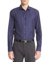 Trim fit tonal gingham sport shirt medium 826999