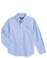 Vineyard Vines West Cay Gingham Whale Sport Shirt