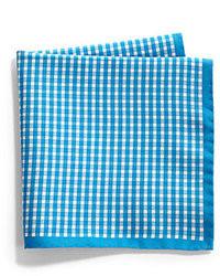 Blue Gingham Pocket Square