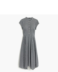 J.Crew Petite Gingham Short Sleeve Shirtdress