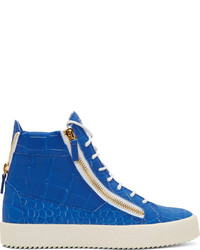Blue High Top Sneakers