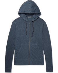 James Perse Loopback Supima Cotton Jersey Zip Up Hoodie