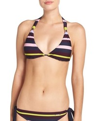 Ted Baker London Modern Stripe Halter Bikini Top