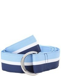Blue Horizontal Striped Canvas Belt