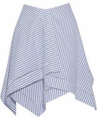 Blue Horizontal Striped Full Skirt