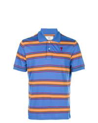 AMI Alexandre Mattiussi Ami De Coeur Striped Polo Shirt