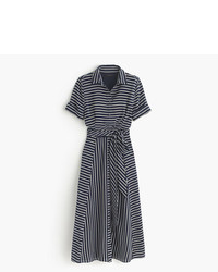 J.Crew Midi Shirtdress In Stripe