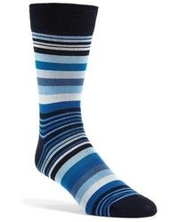 Bugatchi Deconstructed Rugby Stripe Socks