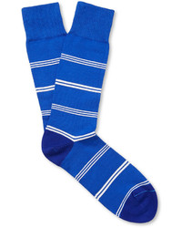 Paul Smith Shoes Accessories Striped Cotton Blend Socks