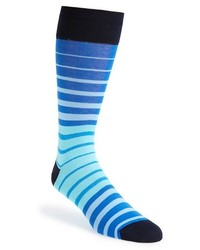 Bugatchi Stripe Cotton Blend Socks
