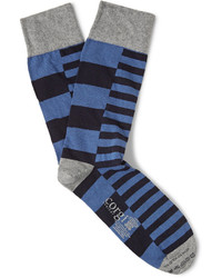 Corgi Striped Cotton Blend Socks