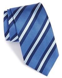 Blue Horizontal Striped Tie