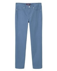 Mango Brandy Straight Leg Jeans Blue