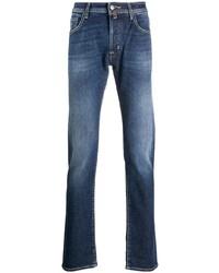 Jacob Cohen High Rise Straight Leg Jeans