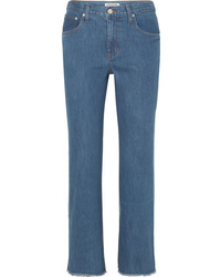 Elizabeth and James Holden Two Tone High Rise Straight Leg Jeans