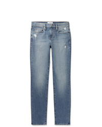 Frame Lhomme Slim Fit Distressed Denim Jeans
