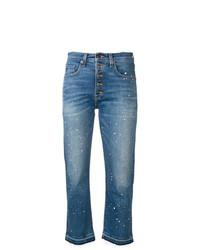 Veronica Beard Paint Splatter Cropped Jeans