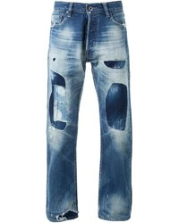 Simon Miller Patched Straight Leg Jeans